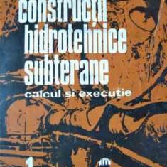 Constructii Hidrotehnice Subterane Vol.1 - M. Bala Gh. Popa M.ion ,526846