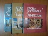 ISTORIA UNIVERSALA A ARHITECTURII ILUSTRATA - GHEORGHE CURINSCHI VORONA, VOL.I-III