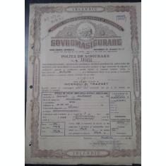 POLITA de ASIGURARE - Incendiu- SOVROMASIGURARE-1953