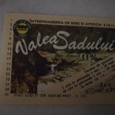 Eticheta bere Romania - VALEA SADULUI Sibiu !