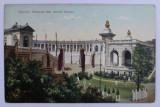 EXPOZITIA NATIONALA 1906 - ARENELE ROMANE , CARTE POSTALA ILUSTRATA , POLICROMA, CIRCULATA , DATATA 1909