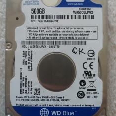 Hard disk laptop 500GB, HDD SATA 2.5 Western Digital WD5000LPVX 1, 5400 rpm OK