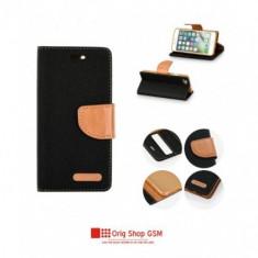 Husa Flip Carte Canvas Samsung G965 Galaxy S9 Plus Negru