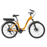 Bicicleta electrica Pegas Comoda Dinamic, aluminiu, motor Bafang 250W, roti 26, viteza maxima 20 km/H, 7 viteze, Galben