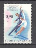 Finlanda.1977 C.E. de patinaj artistic  KF.123, Nestampilat