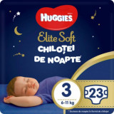 Cumpara ieftin Scutece Huggies Chilotel de nopate Elite Soft Overnight Pants, nr 3, 6-11 kg, 23 buc