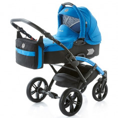 Carucior copii 2 in 1 cu landou Knorr Baby Volkswagen Polo Albastru