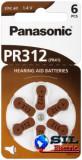 Baterie auditiva zinc-air V312, HA312, PR41 Panasonic