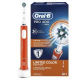 Cumpara ieftin Perie de dinţi electrică Oral-B Pro 400 D16.513, portocaliu