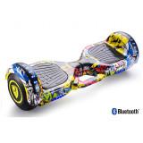 Hoverboard 6,5″ Graffiti, cu maner, Regular Edition