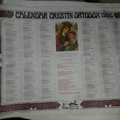 Calendar religios veche Colectie,Calendar crestin ortodox de perete 1998,T.GRAT