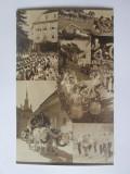Rara! Carte postala-foto Agfa ed.limitata festivalul sasesc Sighisoara anii 40