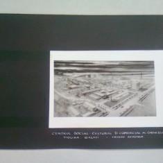 CENTRUL SOCIAL CULTURAL SI COMERCIAL AL CARTIERULUI TIGLINA GALATI (VEDERE AERIANA) - FOTOGRAFIE PROIECT ARHITECTURAL