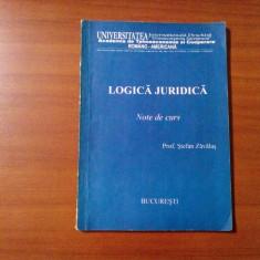 LOGICA JURIDICA - Note de Curs - Stefan Zavalas - 70 p.