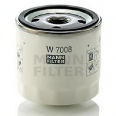Filtru ulei Mann W7008 Ford Fiesta 2002-, B-Max 2012-; C-Max 2011-; Focus 2 2004-; Focus 3 2011-; Fusion, Grand C-Max, Ka 2014-; Kuga 2012-; Mondeo 20