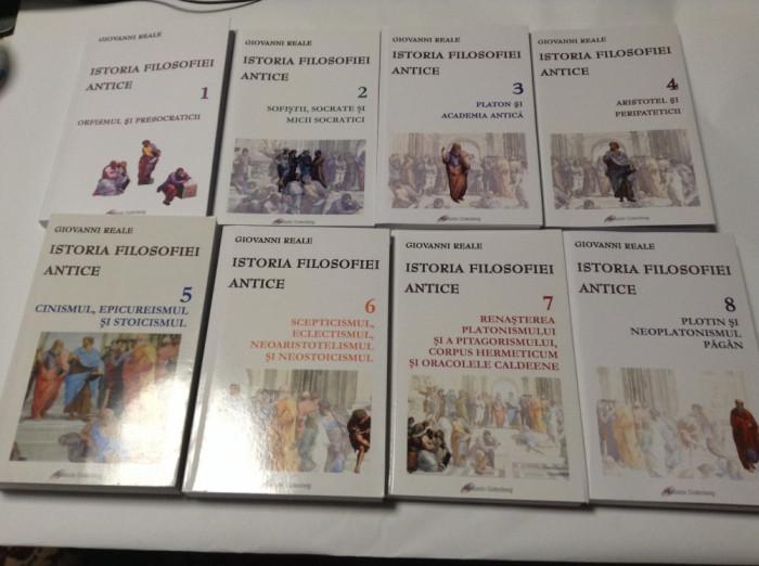 Istoria filosofiei antice 1, 2, 3, 4, 5, 6, 7, 8 – Giovanni Reale (8 vol.)