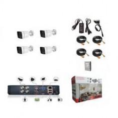 Kit supraveghere video complet AHD ADP 304v3 cu 4 camere exterior 2 MP IR 30 m AHD ZAP30W 200