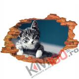"Sticker ""Wall Crack"" Cat 13 - 120 x 80 cm"
