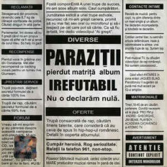 CD Paraziții – Irefutabil, original, holograma