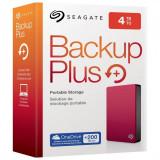Hdd extern seagate 4tb backup plus 2.5 usb3.0 rosu