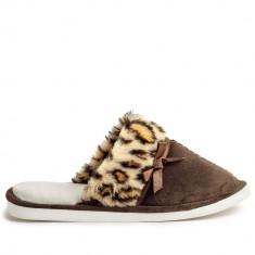 Papuci de casa Comfy maro pentru dame, OLDCOM