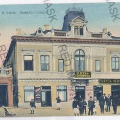 4256 - RM. VALCEA, Hotel, Bank, Romania - old postcard - unused