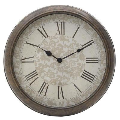 Ceas de perete Chavy, maro, melamina, dimensiuni 40x8 cm foto