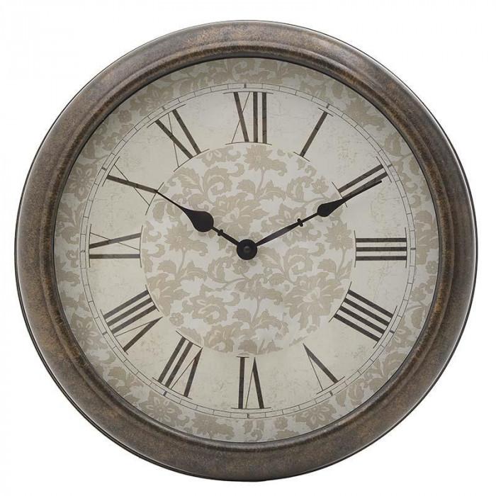 Ceas de perete Chavy, maro, melamina, dimensiuni 40x8 cm
