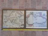 Lot harta veche Marea Neagra Mediterana Africa Italia Grecia antica vintage