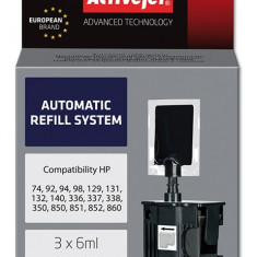 Kit automat reincarcare cartuse HP 336 337 338 350 Black, ActiveJet