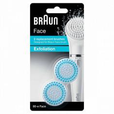Rezerva perie epilator Braun SE80-E Exfoliation 2 bucati Alb/Albastru