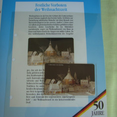 """3 Cartele Telefonice """"50 Jahre Deutschland"""" - Exponate NOI / 13"""