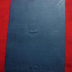 Diploma Medic 1955 - Carnet cartonat