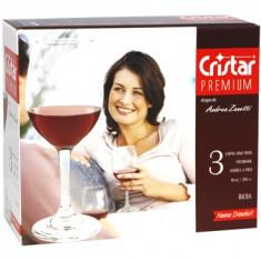 Set pahare pentru vin rosu 3 buc 298cc PREMIUM MN011229 CRISTAR