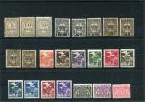1920/47 ,  ROMANIA   ,    LOT TIMBRE DE SERVICIU - 4 POZE  -  MNH+MH, Nestampilat