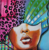 Tablou pictat manual, Abstract, Acrilic