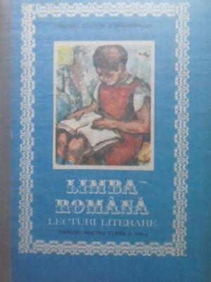 LIMBA ROMANA LECTURI LITERARE MANUAL PENTRU CLASA A VIII-A - DUMITRU SAVULESCU foto