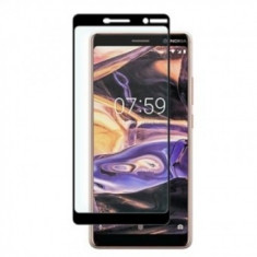Folie protectie display sticla 5D Full Glue Nokia 7 Plus BLACK