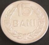 Moneda 15 BANI - RS ROMANIA, anul 1975   *cod 4567  UNC - ALUMINIU!