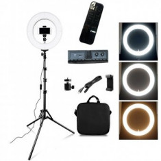 Lampa Circulara cu telecomanda Make UP, Selfie Telefon, Ring Light 12inch - 35W 280Leduri