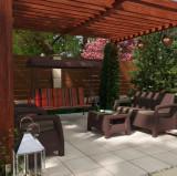 Cumpara ieftin Balansoar gradina, 3 persoane, Doha, structura metal, 170 x 110 x 165 cm
