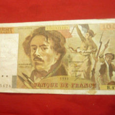 Bancnota 100 fr.-Franta 1981 , cal. f.buna