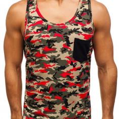 Tricou tank top pentru bărbat camuflaj-multicolor Bolf 2272C