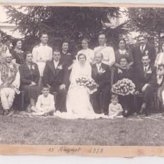 NUNTA ROMANEASCA-FOTOGRAFIE PE CARTON FORMAT 24X17 CENTIMETRI-DATATA 1938