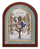 Icoana Argintata, Pomul Vietii, 14.5x18.5cm, Color Cod Produs 2608