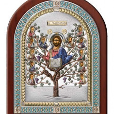Icoana Argintata, Pomul Vietii, 14.5x18.5cm, Color,Cod Produs:2608