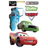 Cumpara ieftin Sticker decorativ cu desene animate si masini Happy Cars autocolant de perete pentru camera copii, 90x60cm