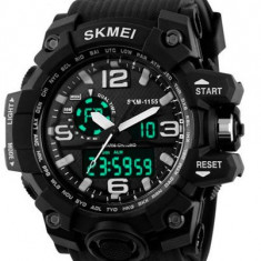 Ceas Luxury Shock Military Subacvactic SKMEI 1155 WR50M 3 culori Calendar etc, Lux - sport, Quartz, Cauciuc