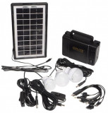 Sistem de iluminat cu panou solar GDLITE GD-8006-A
