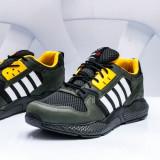 Pantofi sport barbati verzi cu galben Visoli -rl